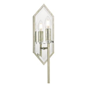 Jozelle Wall Light Mirror & Antique Silver