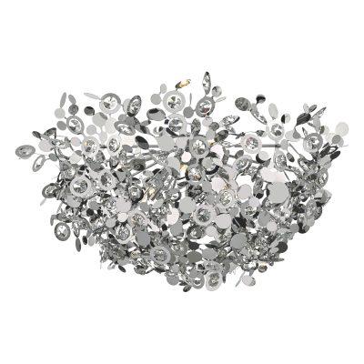 Konstantina 9lt Flush Polished Chrome & Crystal