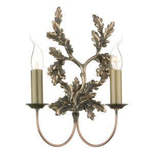 Leaf Double Wall Bracket Bronze