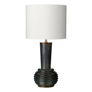 Liquid Table Lamp Ribbed Black/Oil Finish Small Base Only