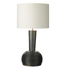 Liquid Table Lamp Ribbed Black/Oil Finish Large Base Only