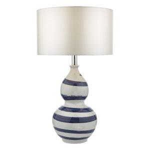 Loen Table Lamp White & Blue Base Only