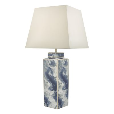 Loyce Table Lamp Blue & Ceramic Base Only