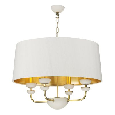 Lunar 4 Light Shaded Pendant complete with Silk Shade (Specify Colour)