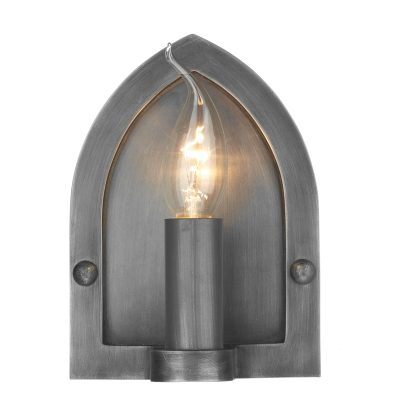 Lindisfarne Wall Light Antique Pewter