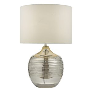 Lylah Table Lamp Mirror & Glass With Shade