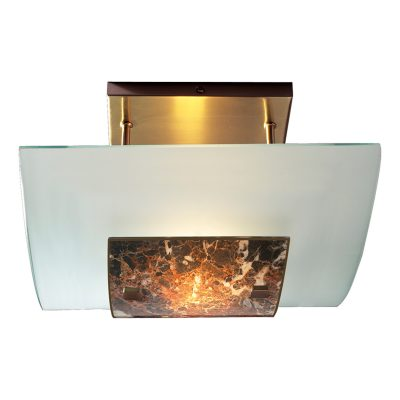 Savoy Halogen Glass Semi Flush Dark Marble