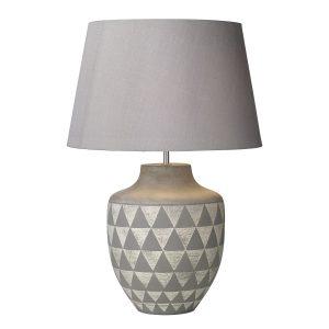 Mulan Table Lamp Ceramic & Grey Base Only