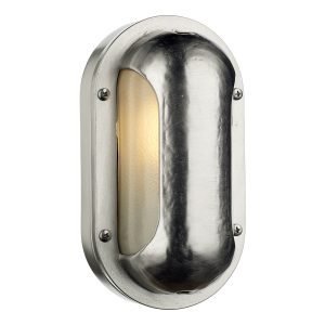 Naval Oval Wall Light Nickel