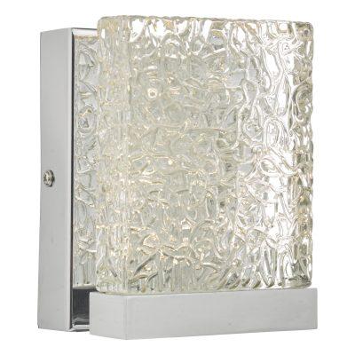 Nihan Wall Light Polished Chrome & Glass LED