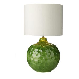 Odyssey Table Lamp Green Dimpled Ceramic Base Only