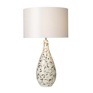 Olka Table Lamp Ceramic & Brown Base Only
