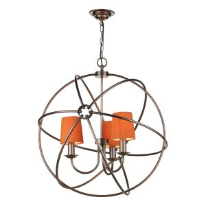 Orb 3 Light 600mm Pendant Antique Copper
