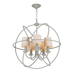 Orb 5 Light 600mm Pendant Ash Grey