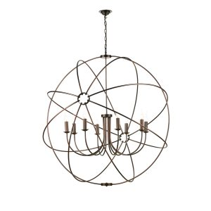 Orb 8 Light 1200mm Pendant Antique Copper