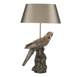 Parrot Table Lamp Bronze Base Only