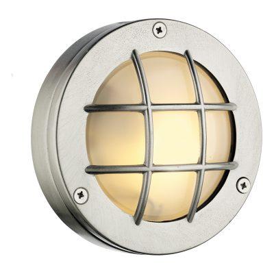 Pembroke Round Wall Light Nickel IP44