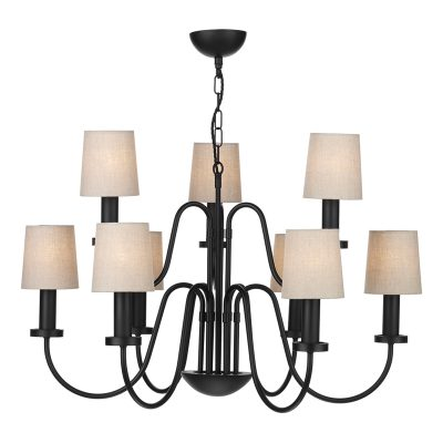 Pigalle 9 Light Chandelier matt  Black
