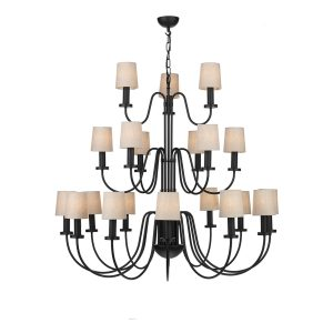 Pigalle 21 Light Chandelier Matt Black