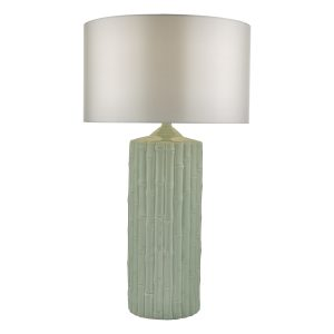 Rattan Table Lamp Mint Green Ceramic Base Only