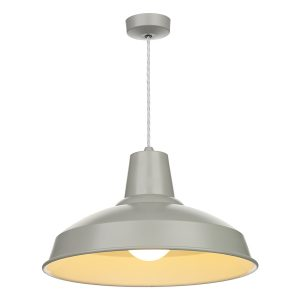 Reclamation 1 Light Pendant Powder Grey