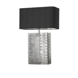 Rivet Table Lamp Pewter Base Only