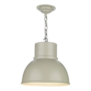 Shoreditch 1 Light Pendant Small Smoke Blue