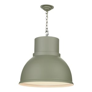 Shoreditch 1Lt Extra Large Pendant Powder Grey