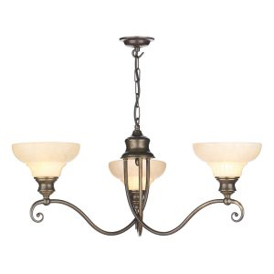 Stratford 3 Light Pendant Aged Brass