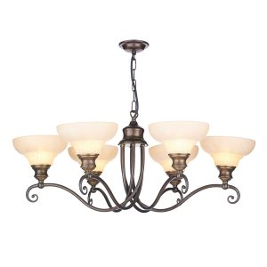 Stratford 6 Light Pendant Aged Brass