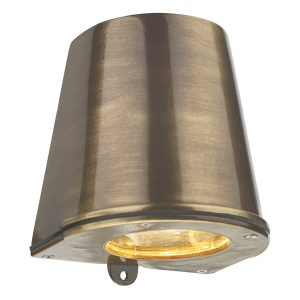 Strait Wall Light D/Lt Antique Brass IP64