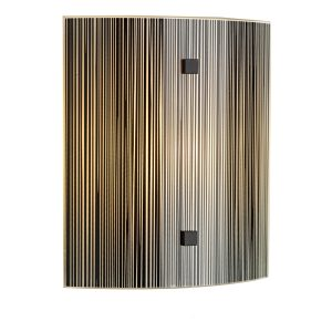 Swirl Black Square Wall Light