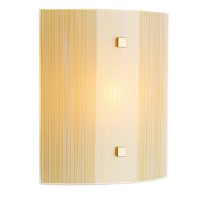 Swirl Amber Square Wall Light