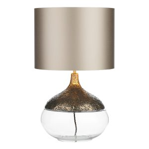 Teardrop Table Lamp Pewter Base Only