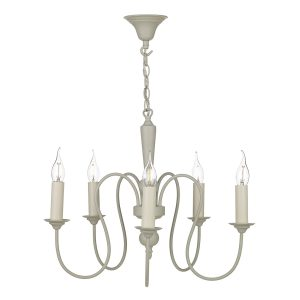 Therese 5 Light Chandelier French Cream