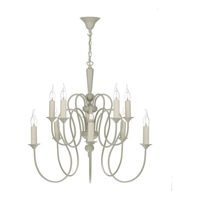 Therese 10 Light Chandelier French Cream