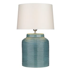 Tidal Table Lamp Ribbed Small Blue Base Only