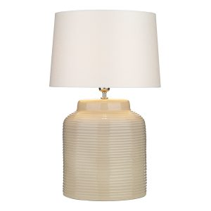 Tidal Table Lamp Ribbed Small Taupe Base Only