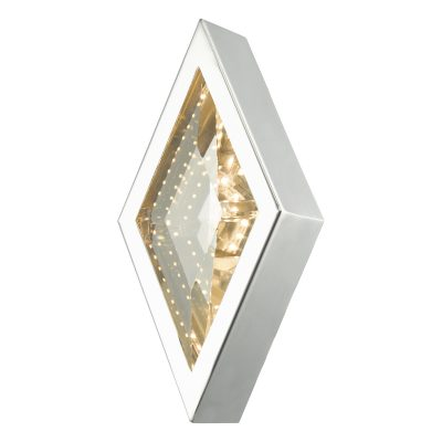Vaeda Wall Light Polished Chrome & Crystal LED