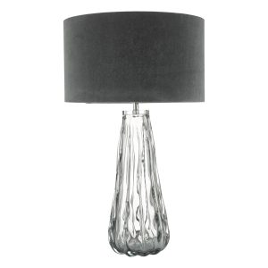 Vezzano Table Lamp Smoked Glass Base Only