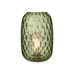 VIDRO Small Dimpled Non Elec Glass Olive Green