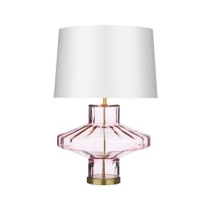 Vienna Table Lamp Pink Glass Base Only