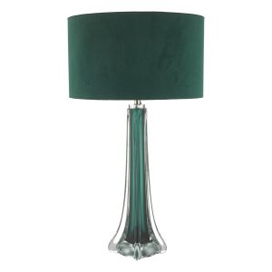 Yoshi Table Lamp Green & Clear Glass Base Only
