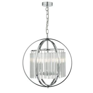 Abdul 3 Light Pendant Polished Chrome