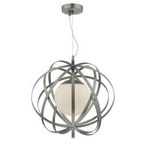 Abraham 1 Light Pendant Satin Chrome