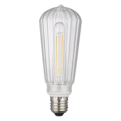 Clear Ribbed LEd Dimmable Pendant Kit