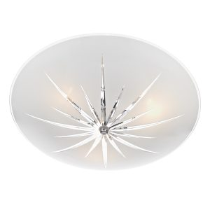 Albany 3 Light Semi Flush White/ Polished Chrome
