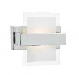 Apt LED Wall Light Polished Chrome & Glass