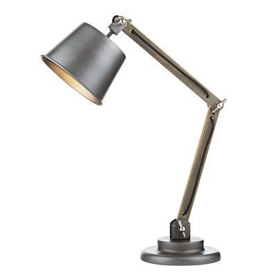 Arken Table Lamp Raw Wood C/W Shade
