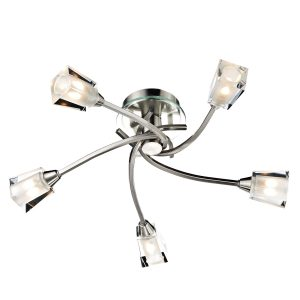Austin 5 Light Semi Flush Satin Chrome